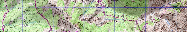 Etape 1 du GR20 : carte IGN entre Calenzana et Ortu