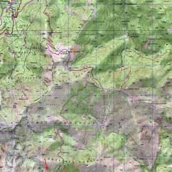 Carte de l'étape 10 du GR20