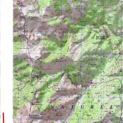 Carte de l'étape 12 du GR20