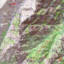 Carte de l'étape 15 du GR20