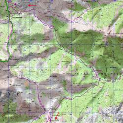Carte IGN de l'étape 8 du GR20