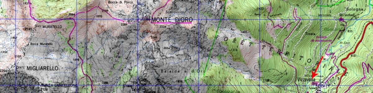 Carte de l'étape 9 du GR20