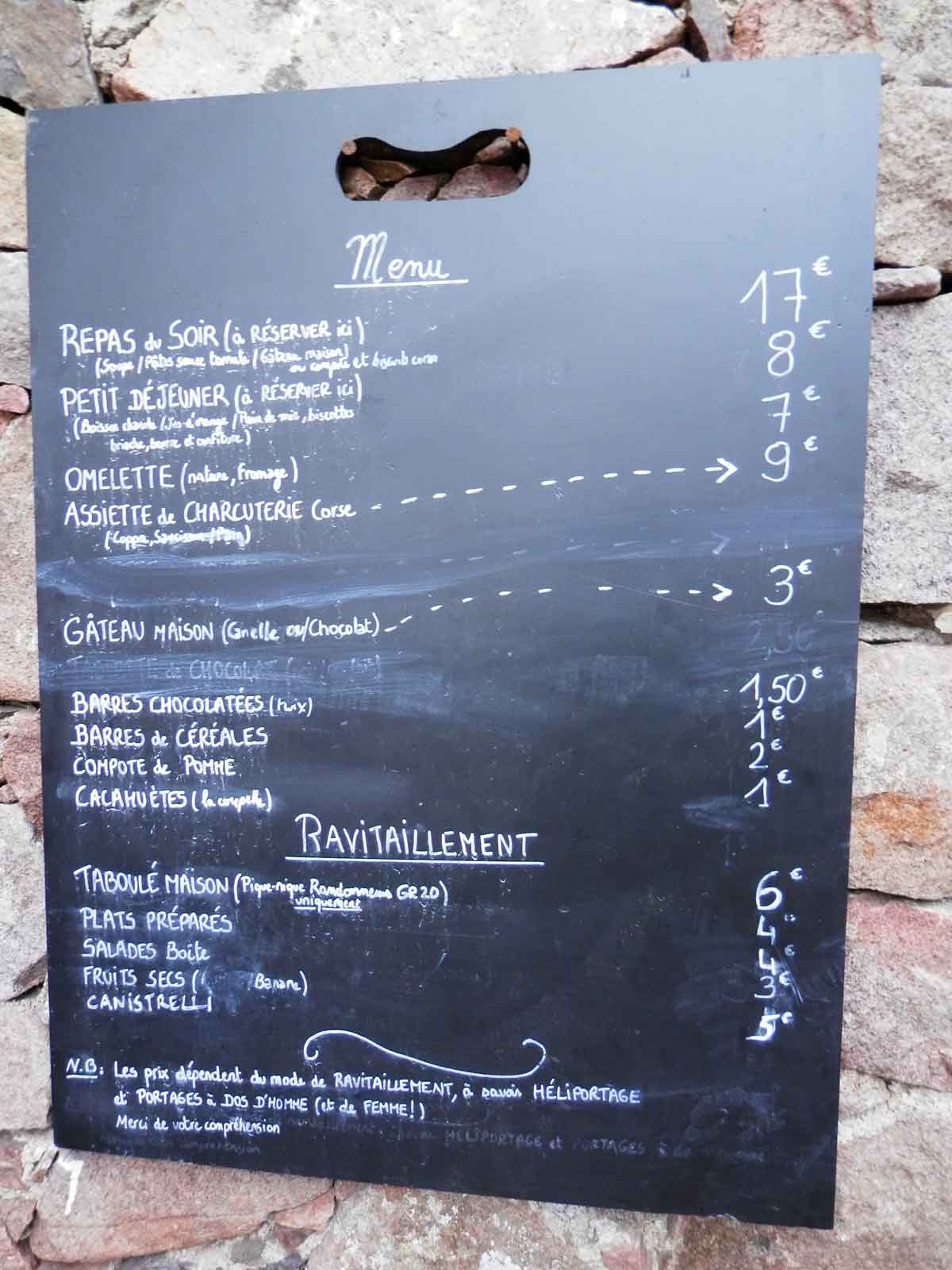 Exemple menus