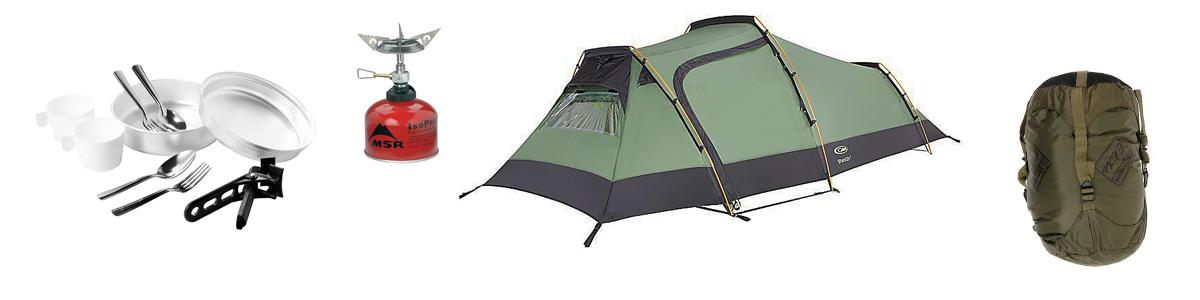 Matériel de bivouac et de camping
