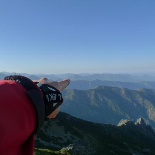 Là bas, c'est la Corse du sud !