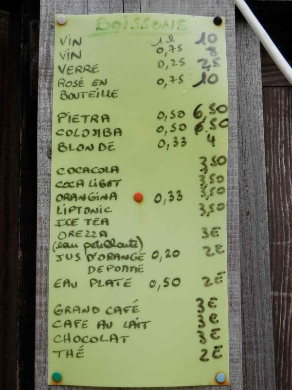 Drinks Prices