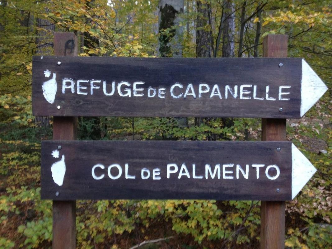 Panneau d'indication E Capanelle