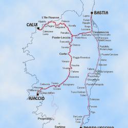 Züge auf Korsika
